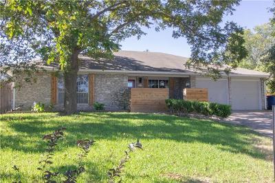 Travis County Single Family Home Pending - Taking Backups: 1507 Desert Quail Ln