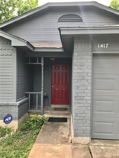 Austin Single Family Home Pending - Taking Backups: 1417 Tuffit Ln