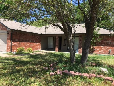 Lampasas Single Family Home Pending - Taking Backups: 457 Supple Dr