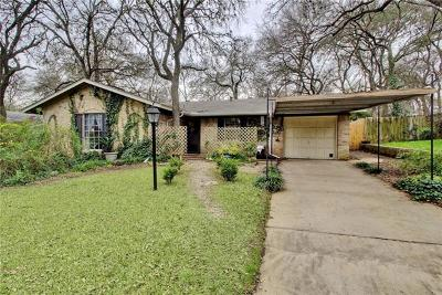 Travis County Single Family Home Pending - Taking Backups: 1805 Cannonwood Ln