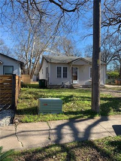 Austin Single Family Home For Sale: 1117 1/4 Gunter St