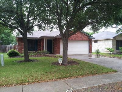Round Rock Single Family Home For Sale: 3129 Jazz St