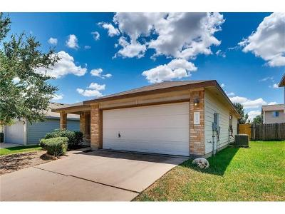 Del Valle Single Family Home Pending - Taking Backups: 12629 Campana Dr
