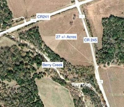 Bell County, Burnet County, Coryell County, Lampasas County, Llano County, McLennan County, Mills County, San Saba County, Williamson County Farm Pending - Taking Backups: Cr 241