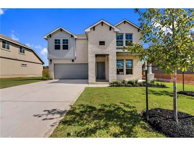 Leander Single Family Home For Sale: 1020 Peregrine Way