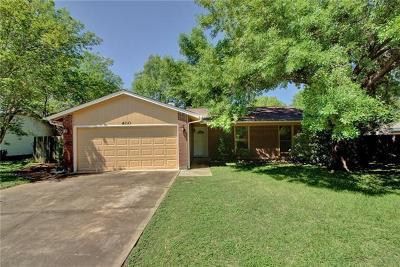 Buda Single Family Home For Sale: 400 Loma Verde St