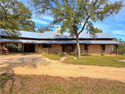 Menard County, Val Verde County, Real County, Bandera County, Gonzales County, Fayette County, Bastrop County, Travis County, Williamson County, Burnet County, Llano County, Mason County, Kerr County, Blanco County, Gillespie County Single Family Home For Sale: 169 Pecan Ln