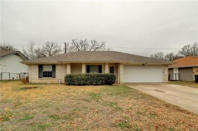 Georgetown TX Single Family Home For Sale: $165,000