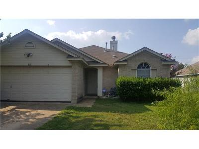 Leander Single Family Home For Sale: 811 Lantana Ln