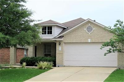 Pflugerville Single Family Home For Sale: 2713 Mission Tejas Dr