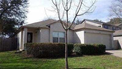 Leander Single Family Home For Sale: 2419 Lauren Loop