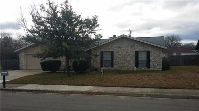 Round Rock Single Family Home Pending - Taking Backups: 601 White Wing Way