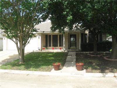 Round Rock Single Family Home For Sale: 3632 Nolan Ryan
