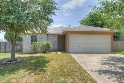 Hutto Rental For Rent: 412 Ballentine Ct