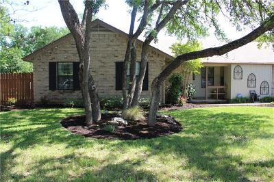 Round Rock Single Family Home For Sale: 1403 Oak Meadows Cv