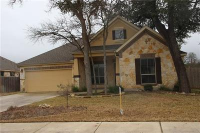 Cedar Park Single Family Home Pending - Taking Backups: 3102 Herrero Path