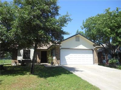 Round Rock Single Family Home For Sale: 1812 Wagon Gap Dr