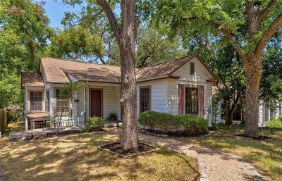 Austin Single Family Home For Sale: 3304 Hollywood Ave #1