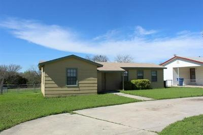 Coryell County Single Family Home For Sale: 801 Hackberry St