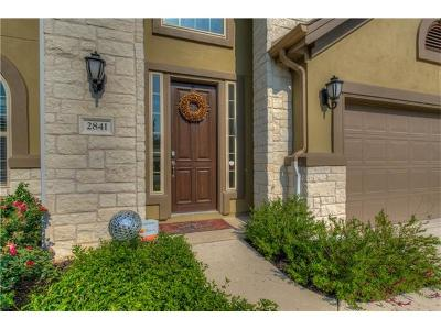 Leander Single Family Home For Sale: 2841 Coral Valley Dr
