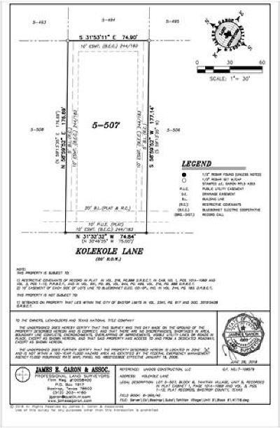 Bastrop County Residential Lots & Land Pending - Taking Backups: 318 Nene Ln