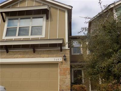 Round Rock Rental For Rent: 1620 Bryant Dr #1603