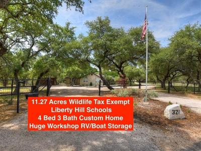 Georgetown Single Family Home Pending - Taking Backups: 321 Rancho Bueno Dr