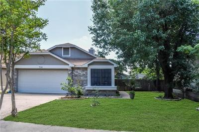Cedar Park Single Family Home For Sale: 706 Pecan Pass