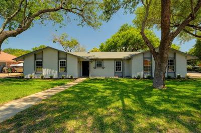 Round Rock Single Family Home For Sale: 608 White Wing Way
