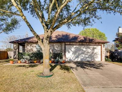 Round Rock Single Family Home For Sale: 4308 Cisco Valley Dr