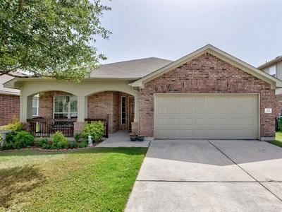 Round Rock Single Family Home For Sale: 1322 Rainbow Parke Dr