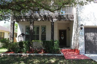 Cedar Park Single Family Home For Sale: 613 Trail Dust Dr