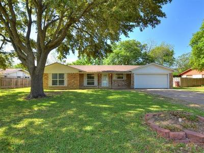 Round Rock Single Family Home For Sale: 605 Virginia Dr