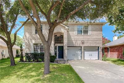 Round Rock Single Family Home For Sale: 16832 Cranston Dr