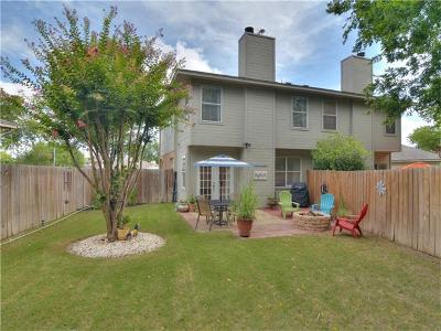 Round Rock Condo/Townhouse For Sale: 2419B Curry Loop