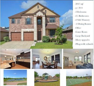 Pflugerville Single Family Home For Sale: 14504 Lake Victor Dr