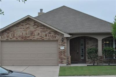 Hutto Single Family Home For Sale: 115 Campos Dr