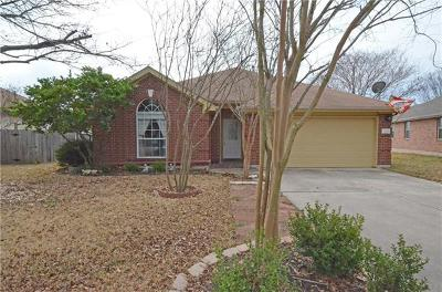 Round Rock Single Family Home Pending - Taking Backups: 16849 Tortoise St