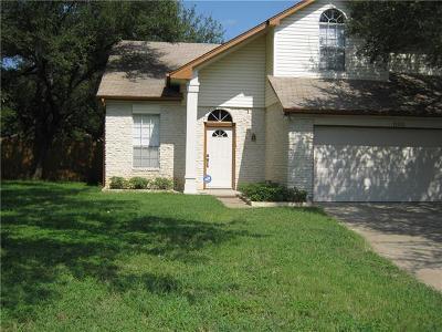 Cedar Park Single Family Home For Sale: 1103 Elmwood Trl