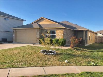 Manor Single Family Home For Sale: 13304 Prairie Sage Cv