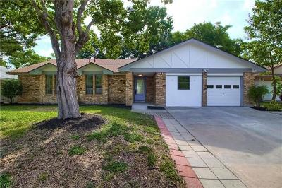 Round Rock Single Family Home For Sale: 1203 Mills Meadow Dr