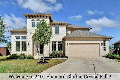 Leander Single Family Home For Sale: 2401 Shumard Bluff Dr