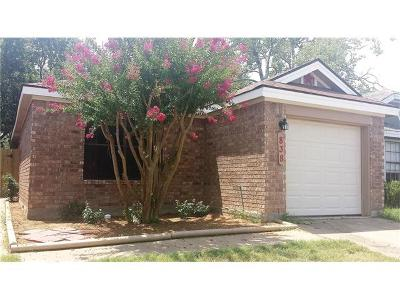 Leander Single Family Home Pending: 838 Mica Ln