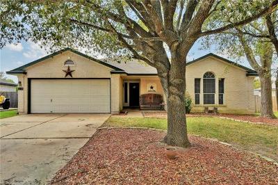 Round Rock Single Family Home For Sale: 1214 Jordan Ln