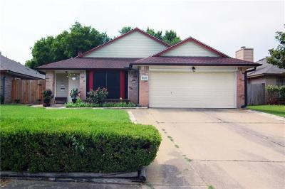 Round Rock Single Family Home Pending - Taking Backups: 611 David Curry Dr