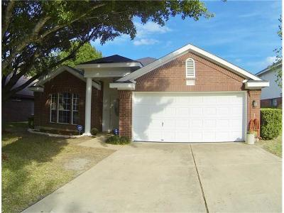Pflugerville Single Family Home For Sale: 20807 Pacers Gait Ln