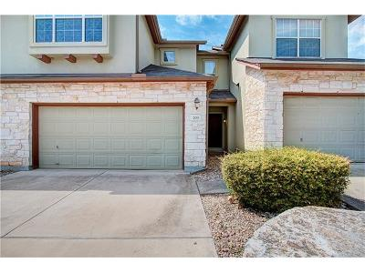 Round Rock Condo/Townhouse For Sale: 2410 Great Oaks Dr #203