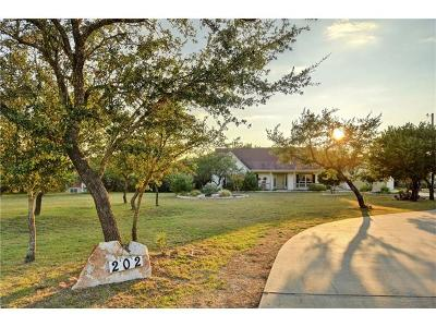 Dripping Springs Single Family Home For Sale: 202 High Plains Dr