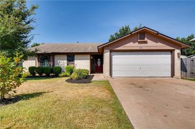 Cedar Park Single Family Home Pending - Taking Backups: 401 Oakridge Pass