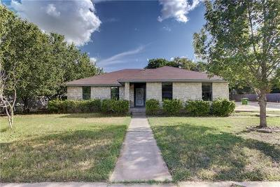 Round Rock Single Family Home For Sale: 3601 Monument Dr